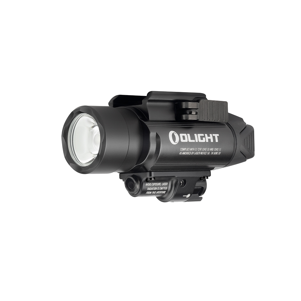 Olight BALDR Pro 1350 lumen rail mount light with green laser - Black