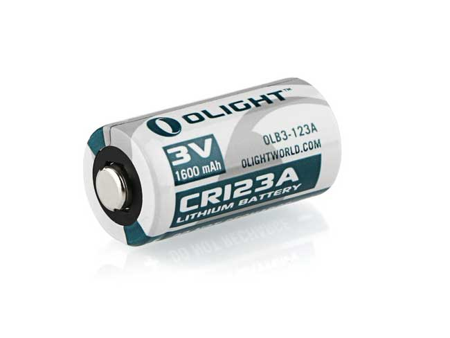 Olight 1600mAh CR123A Lithium battery two pack OLB-CR123A