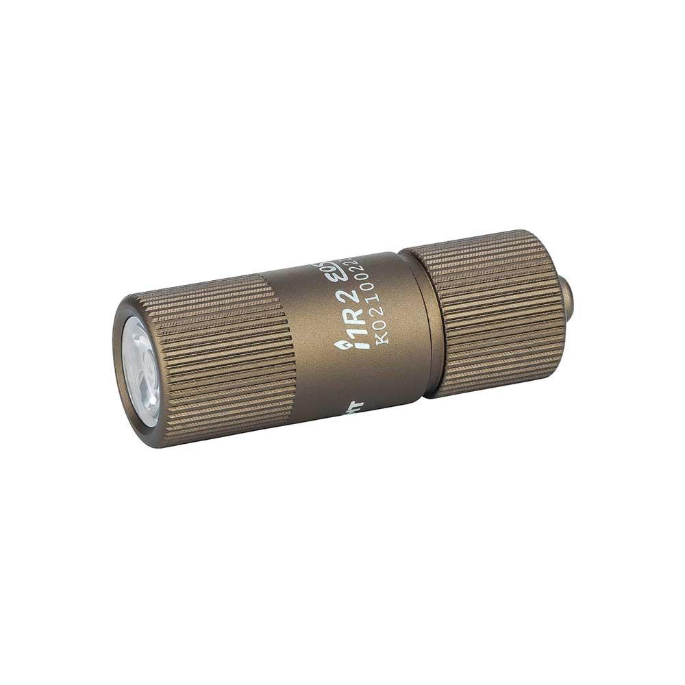 Olight i1r 2 EOS 150 lumen USB rechargeable keyring torch Desert Tan