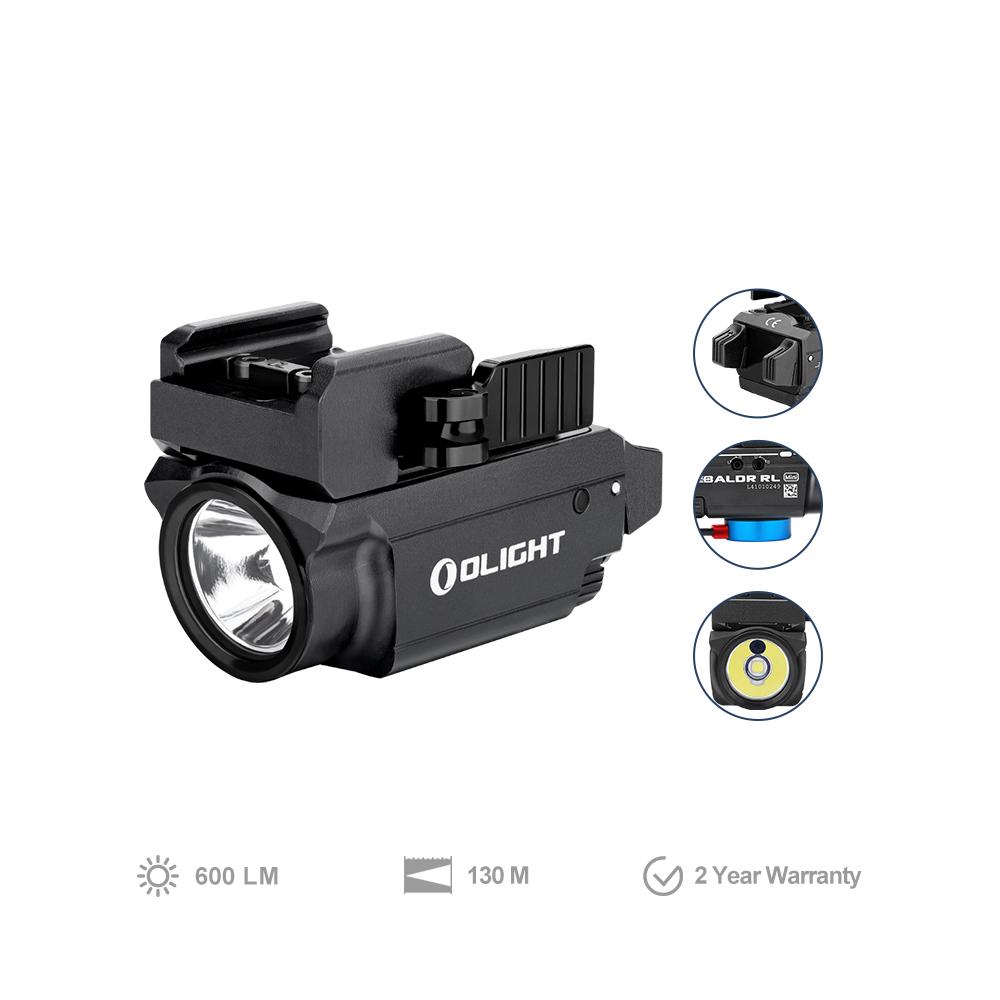 Olight BALDR RL Mini 600 lumens pistol light with red laser
