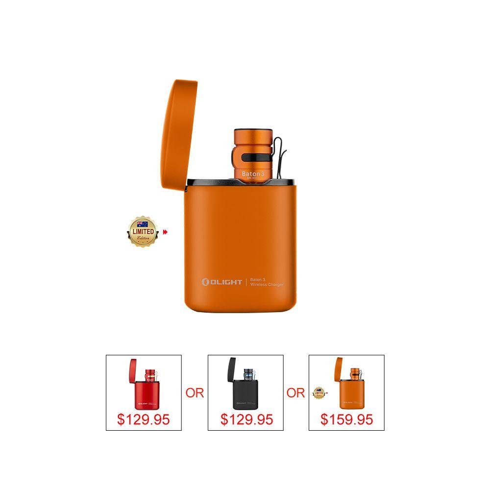 Olight Baton 3 Premium Edition Including 1,200 lumens powerful Baton 3 and wireless charging case