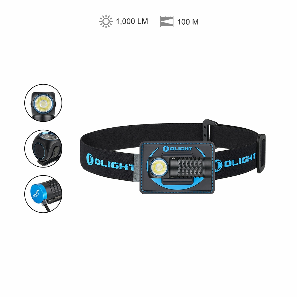 Olight Perun Mini Kit 1000 Lumens 100m Rechargeable Headlamp