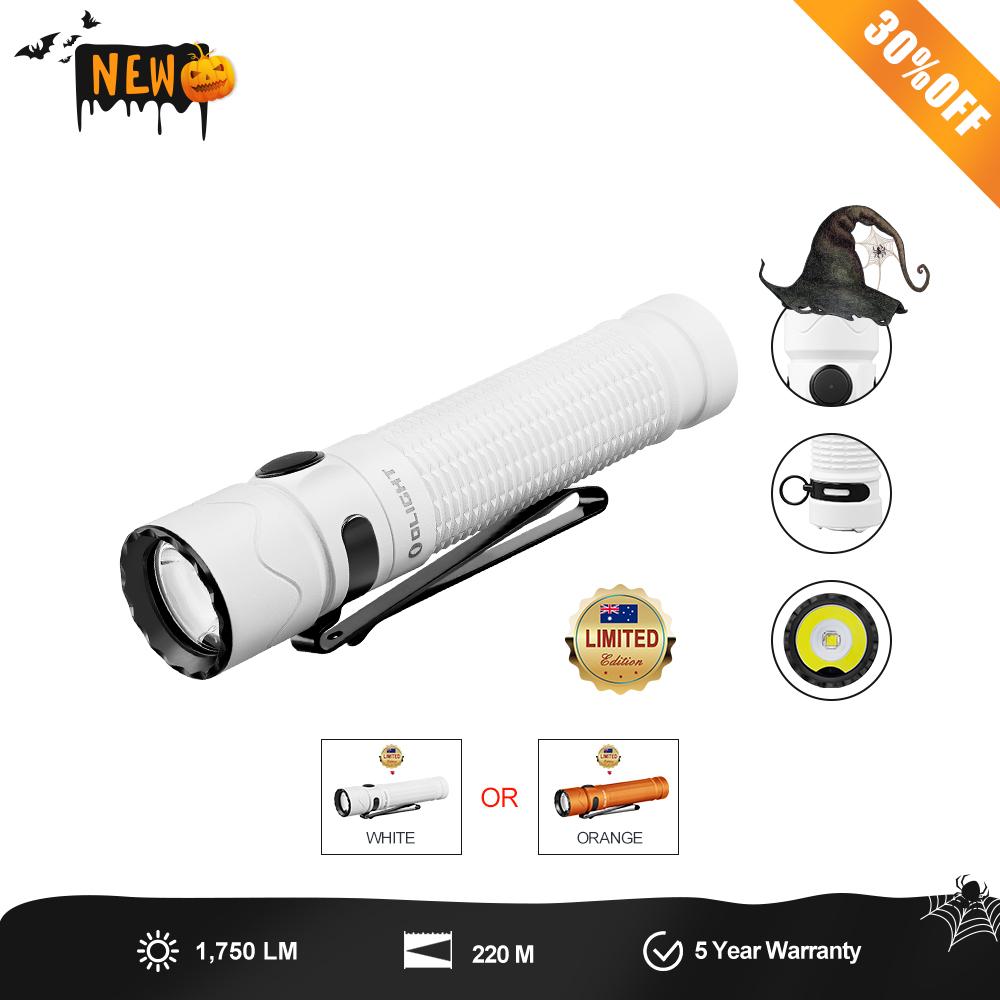 Olight Warrior Mini 2 Orange or White 1750 Lumens compact tactical edc light with proximity sensor