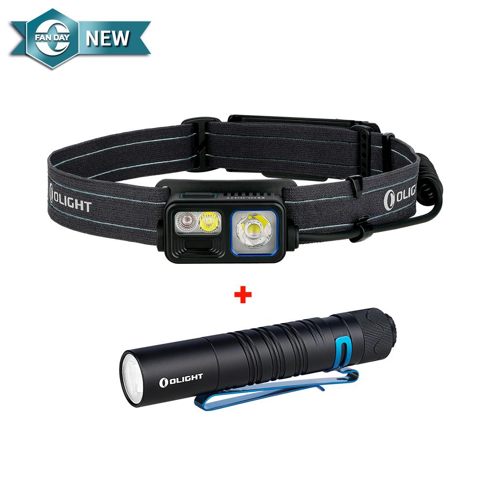 Olight Array 2S rechargeable LED headlamp+I5R Black Bundle