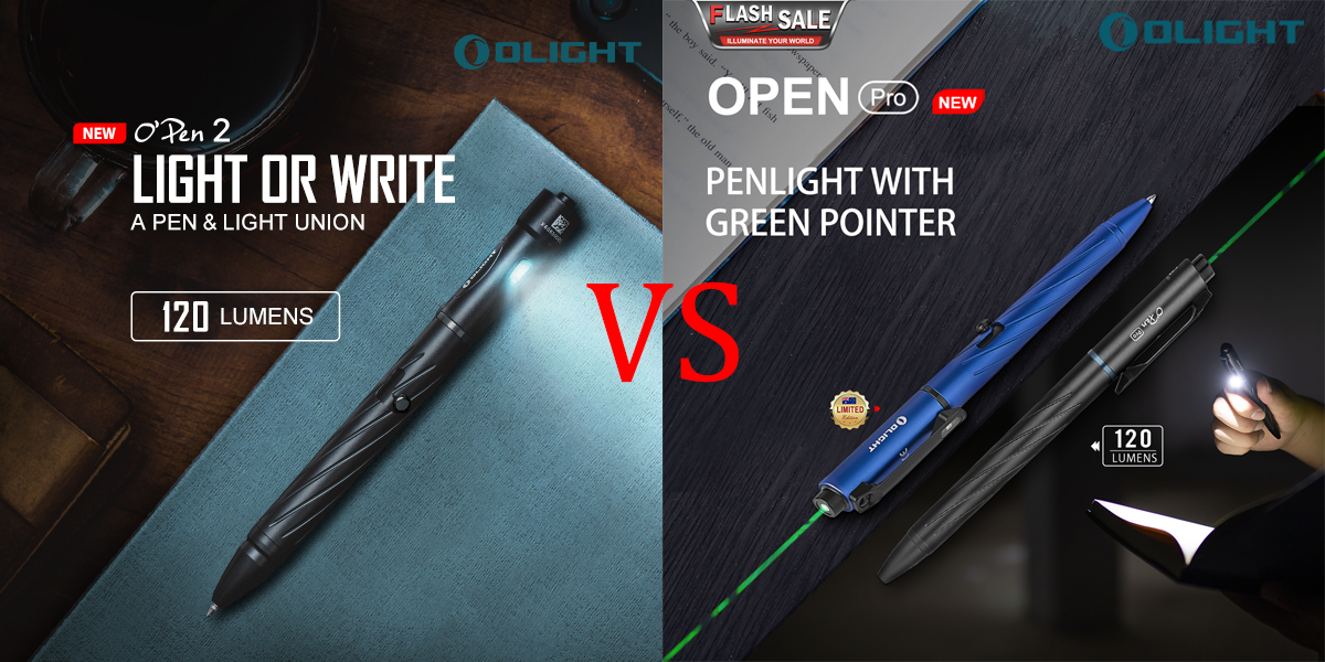 Open 2 VS Open Pro: Stylish & Practical Penlight Recommendation