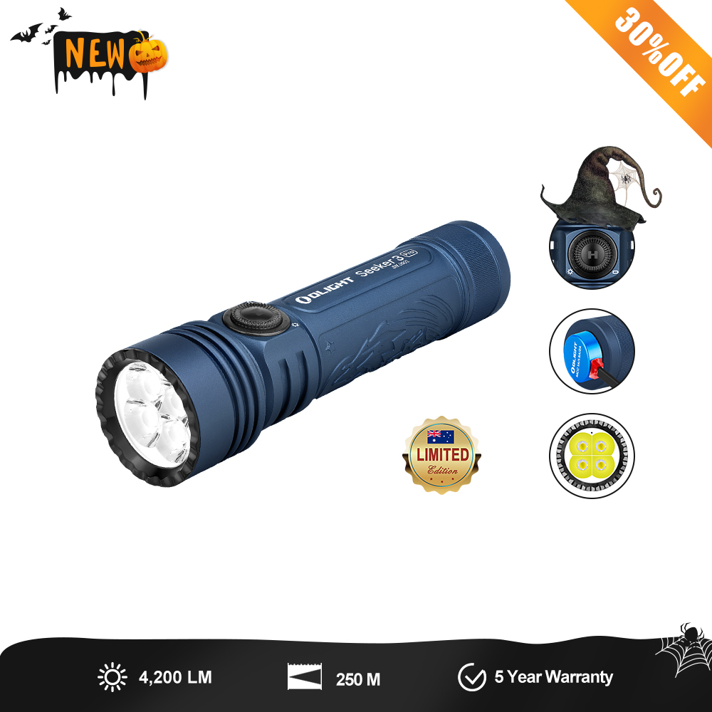 Olight Seeker 3 Pro (Night Wolf) - Heavy Duty Torch with 21700 Battery - Limited Edition
