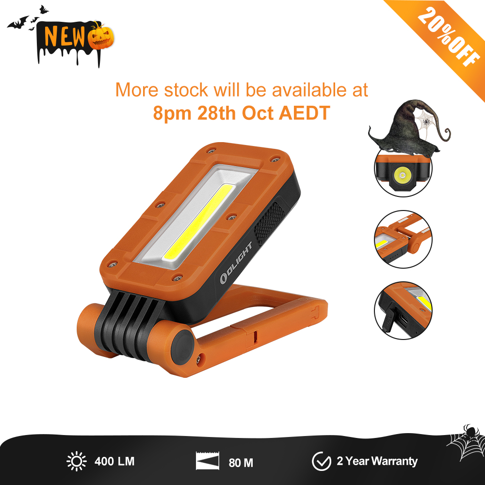 Swivel (Orange) - Rechargeable Magnetic LED Folding Work Light