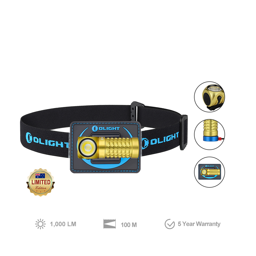Olight Perun Mini Kit Yellow 1000 Lumens Rechargeable Headlamp