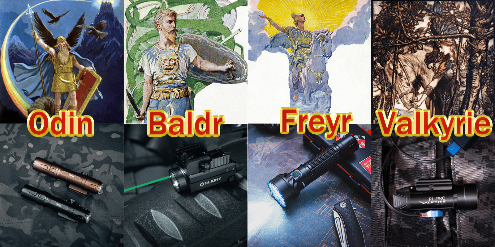 How Do Olight's Torch Names Relate To Norse Mythology?